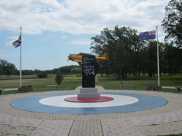 memorial garden for British Commonwealth Air Training Plan at the Air Force Heritage Park - photo by Wtshymanski under CC-BY-SA-4.0