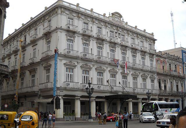 The Hotel Inglaterra in Havana, Cuba - photo by Callelinea under PD-self