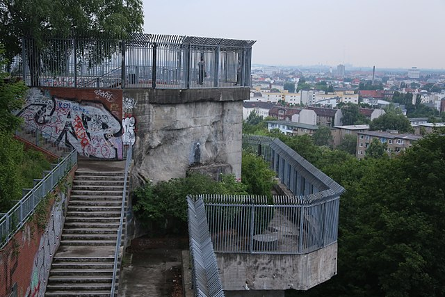 historical sites in berlin - The Berlin Flak Tower - photo by drrcs15 under CC-BY-SA-4.0