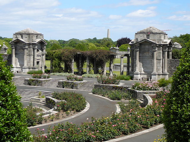 Irish National War Memorial Gardens in Dublin, Ireland - photo by Osioni under PD-self