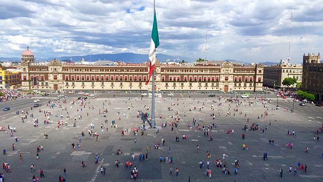 Plaza de la Constitución in Mexico City - photo by MaFernandaTj under CC-BY-SA-4.0