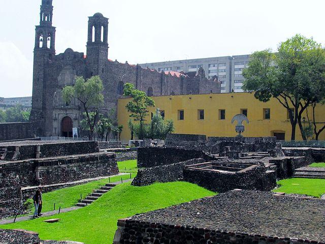 Plaza de las Tres Culturas - photo by BCSmith under CC-BY-SA-3.0