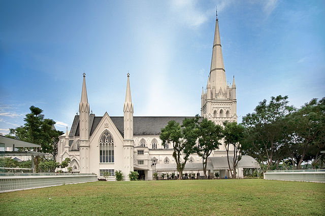 St. Andrew's Cathedral, Singapore - photo by Someformofhuman. under CC-BY-SA-3.0