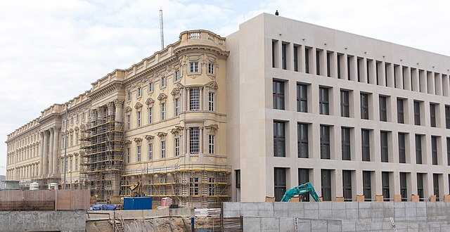 Humboldt Forum under renovation - photo by GodeNehler under CC-BY-SA-4.0