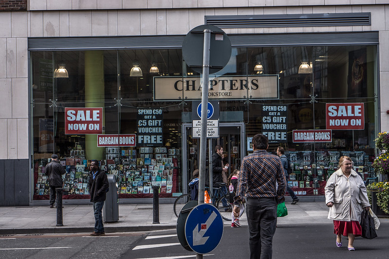 Chapters Bookstore on Parnell Street - photo by William Murphy under CC BY-SA 2.0