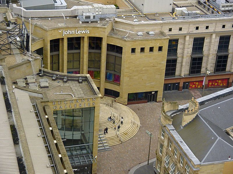 best shopping in Glasgow - Buchanan Galleries in Glasgow, Scotland - photo by Ross Little from Glasgow, Scotland under CC-BY-SA-2.0