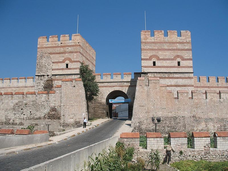 Belgrade Gate of the Theodosian Walls in Constantinople - photo by CrniBombarder!!! under Public Domain