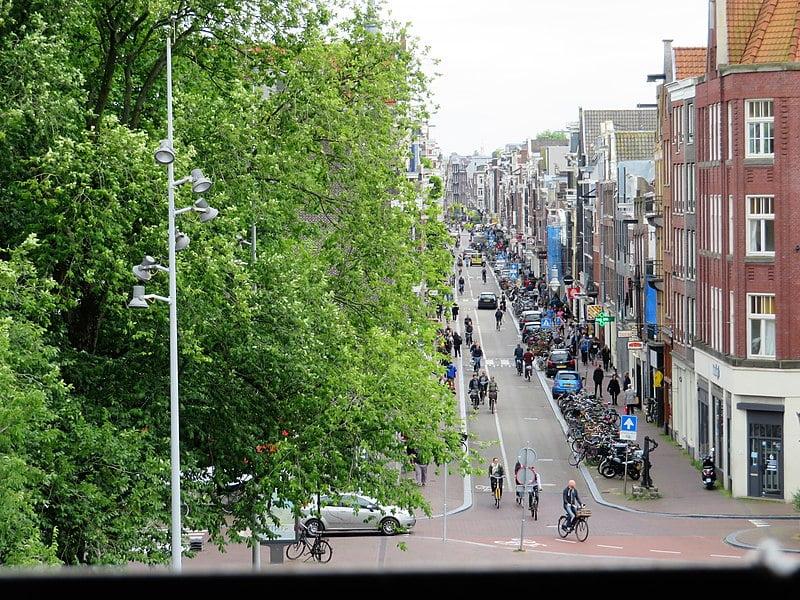 best shopping in Amsterdam - Haarlemmerdijk as seen from the Haarlemmerpoort in Amsterdam - photo by Marion Golsteijn under CC BY-SA 4.0