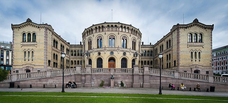Stortinget (The Storting Building) - photo by gcardinal from Norway under CC-BY-2.0