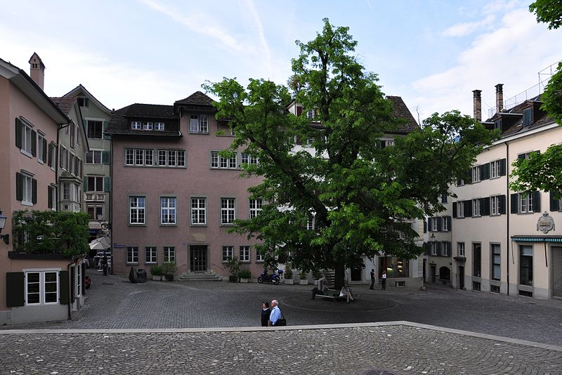St. Peterhofstatt, along which Lavaterhaus can be found - photo by Roland zh under CC-BY-SA-3.0