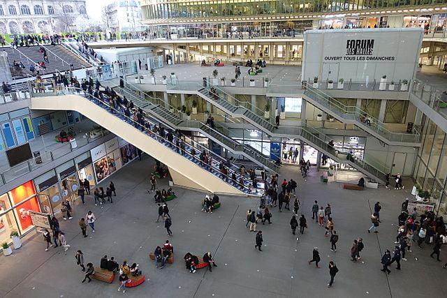 Forum des Halles - photo by Guilhem Vellut from Paris, France under CC-BY-2.0