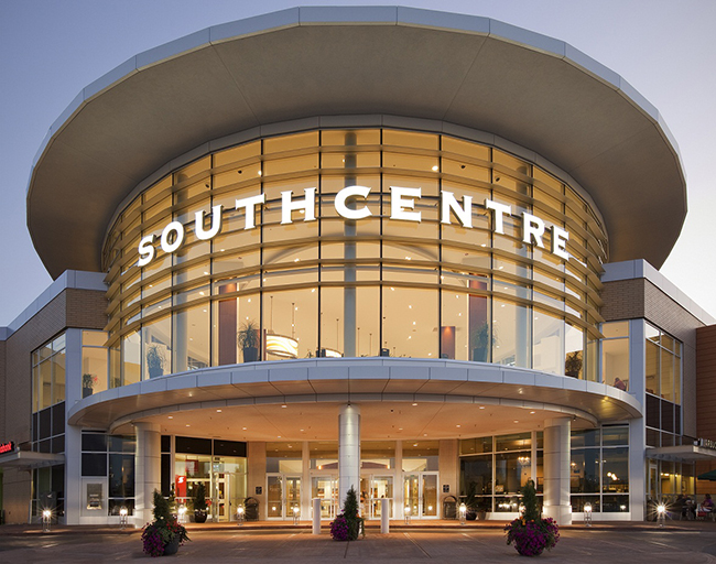 Main entrance of Southcentre Mall - photo by The Mr. Wonderful under CC-BY-SA-4.0