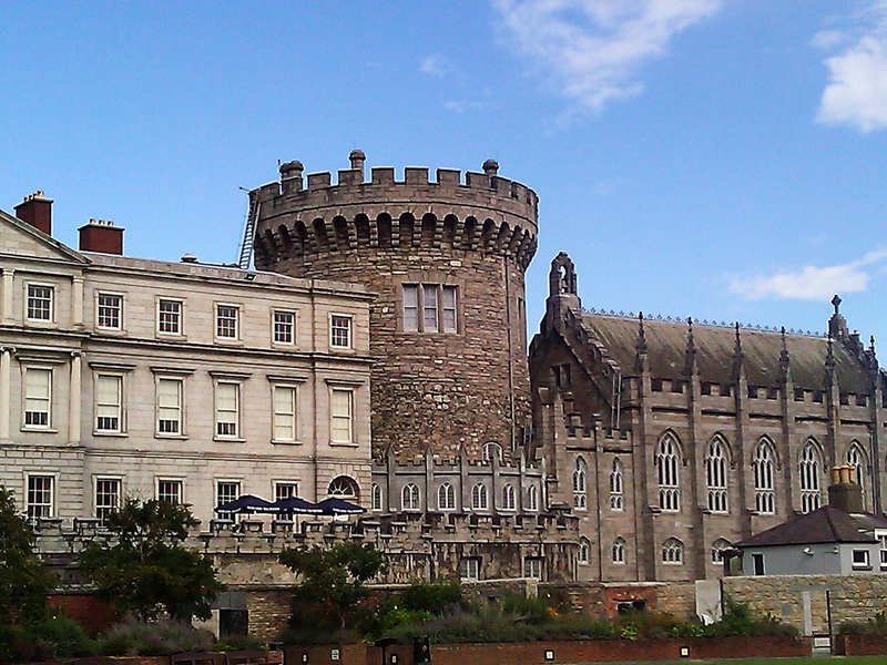 historical site in Dublin - Dublin Castle in Ireland - photo by Ireland Information under Public Domain Certification