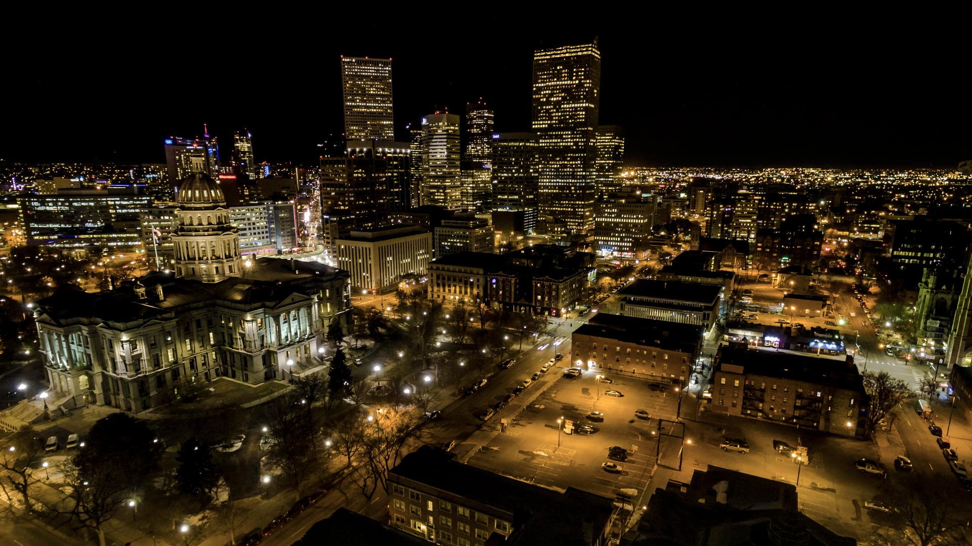 Denver, Colorado at night - photo by Piqsels under CC0