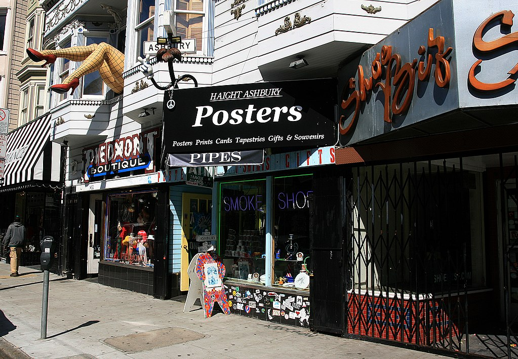 best shopping in San Francisco - Some of the shops on Haight Street in San Francisco - photo by Brocken Inaglory under CC-BY-SA-3.0 and GFDL
