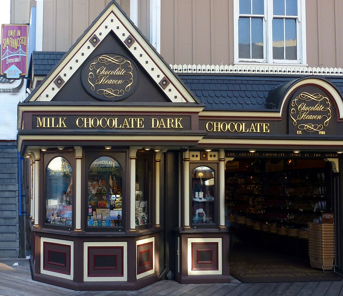 Chocolate Heaven at PIER 39 - photo by PIERRE ANDRE LECLERCQ under GFDL and CC-BY-SA-4.0,3.0,2.5,2.0,1.0