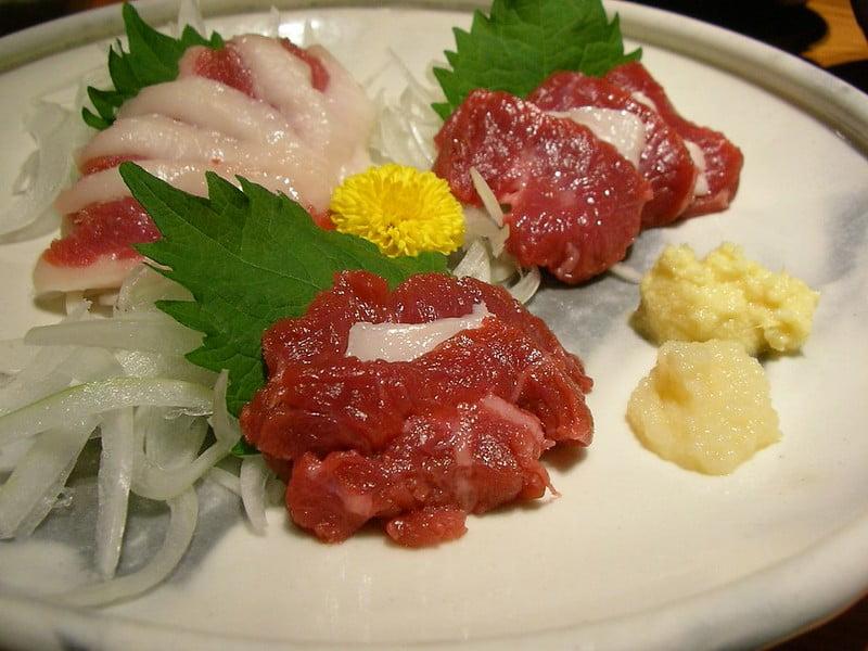 Basashi (Horse Meat Sashimi) - photo by Hajime NAKANO under CC BY 2.0