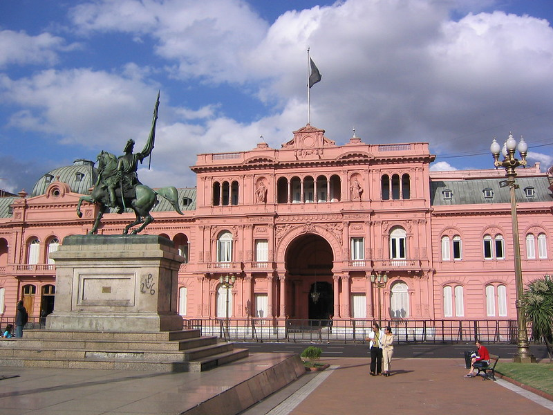 Casa Rosada or (Pink Palace) - photo by Phil Whitehouse under CC BY 2.0