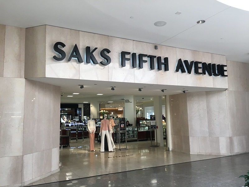 The entrance to Saks Fifth Avenue at Dadeland Mall - photo by Phillip Pessar under CC BY 2.0