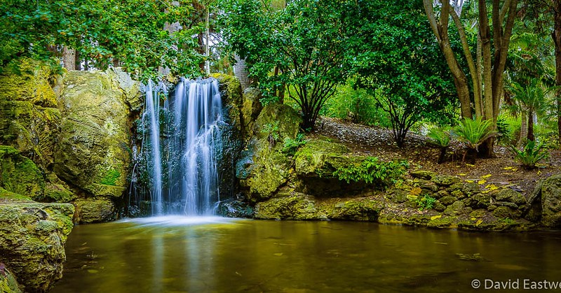 Waterfalls at John Oldham Park - photo by David Eastwell under CC BY 2.0