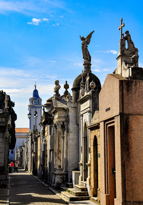 Some of the vaults at La Recoleta Cemetery - photo by Rod Waddington under CC BY-SA 2.0