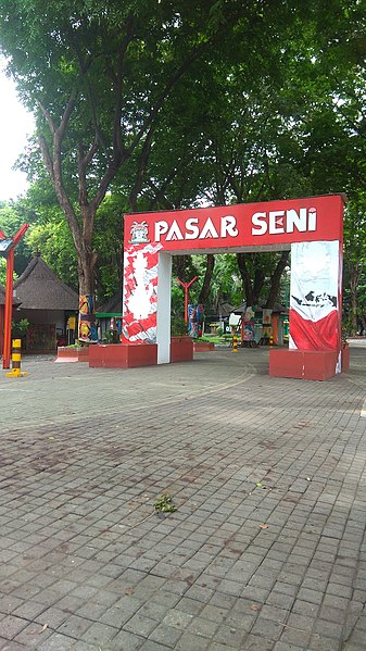 Entrance to Ancol Art Market - photo by Muhammad Ishomil under CC-BY-SA-4.0
