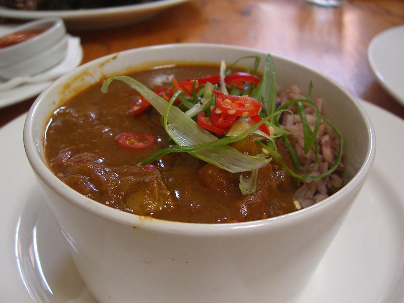 Curry Goat with Rice and Peas - photo by Alpha under (CC BY-SA 2.0