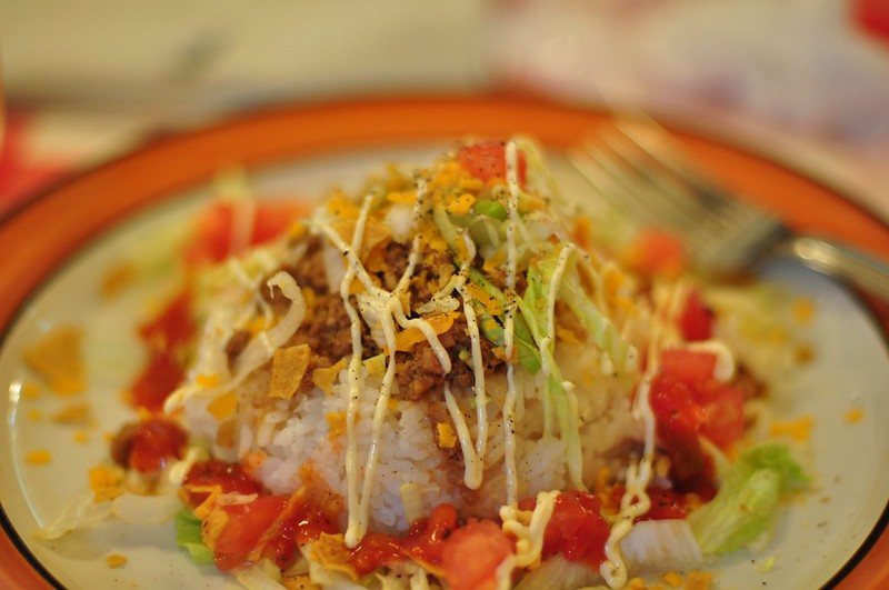 Anthony Bourdain Okinawa - Taco Rice - photo by Emil Erlandsson under CC BY-ND 2.0