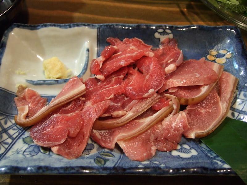 Yagi-sashi (Goat Meat Sashimi) - photo by pelican under CC BY-SA 2.0