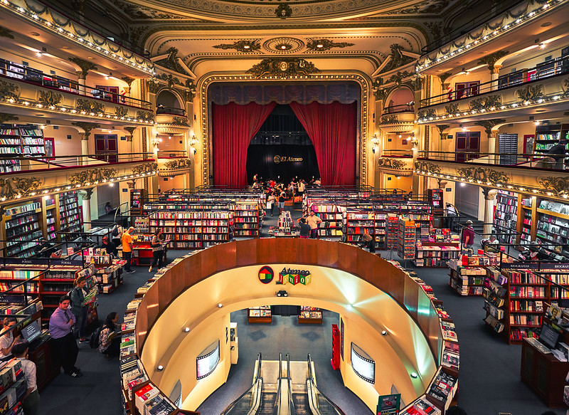 Inside El Ateneo Grand Splendid - photo by Deensel under CC BY 2.0