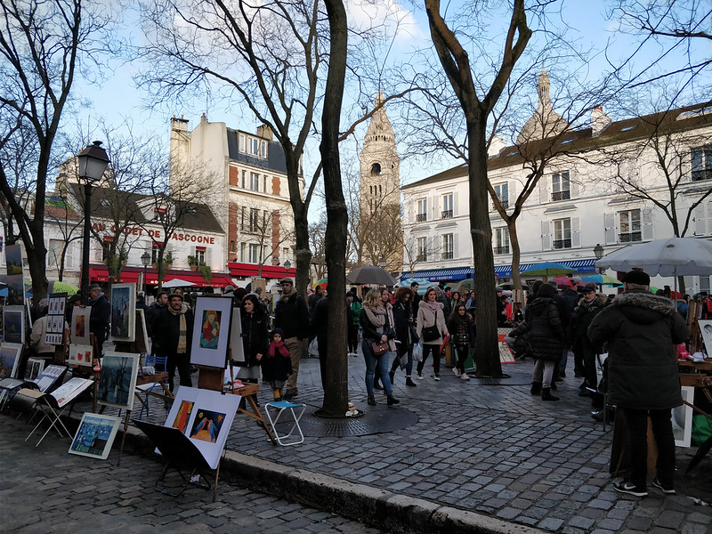 three days in Paris - Place du Tertre - photo by Mario Sánchez Prada under CC BY-SA 2.0