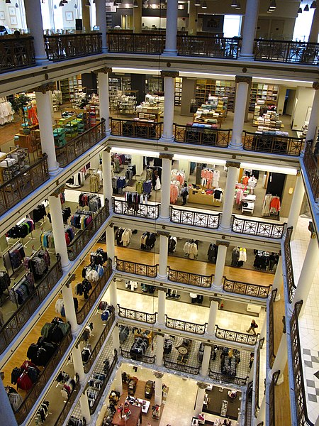 best shopping in Chicago - Macy's at Water Tower Place in Chicago - photo by Ryan from Toronto, Canada under CC-BY-2.0