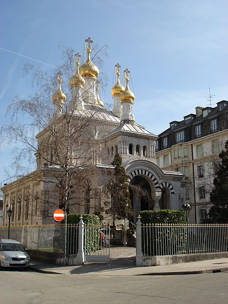 free things to do in Geneva - The Russian Orthodox Church in Geneva - photo by Szalax under CC-BY-SA-3.0