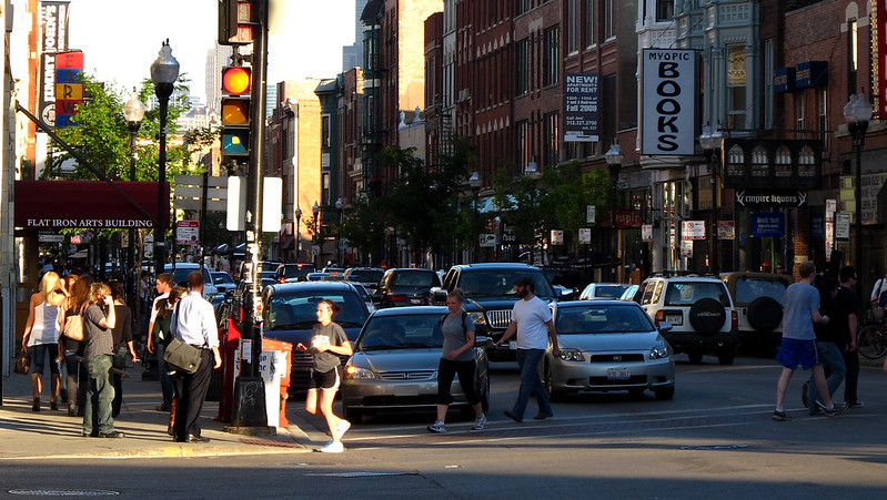 best shopping in Chicago - Wicker Park area in Chicago - photo by Ryan under CC BY 2.0