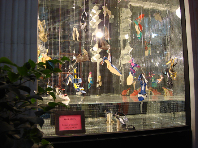 best shopping in Madrid - The Manolo Blahnik store on Serrano Street in Madrid - photo by Sergio Calleja (Life is a trip) under CC BY-SA 2.0