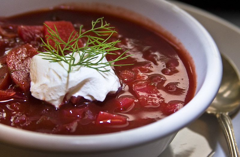 Anthony Bourdain Russia - Borscht - photo by liz west under CC BY 2.0