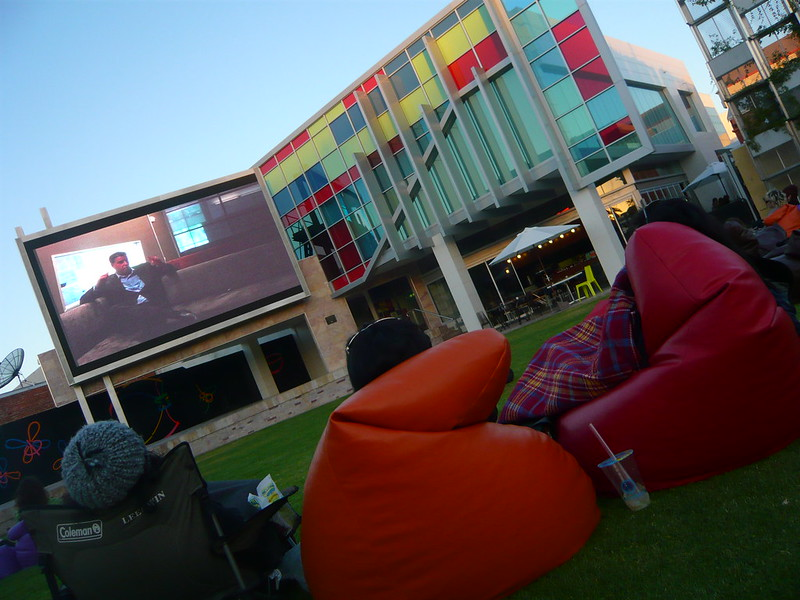 Outdoor TV at Northbridge Piazza - photo by Craig Murphy under CC BY 2.0