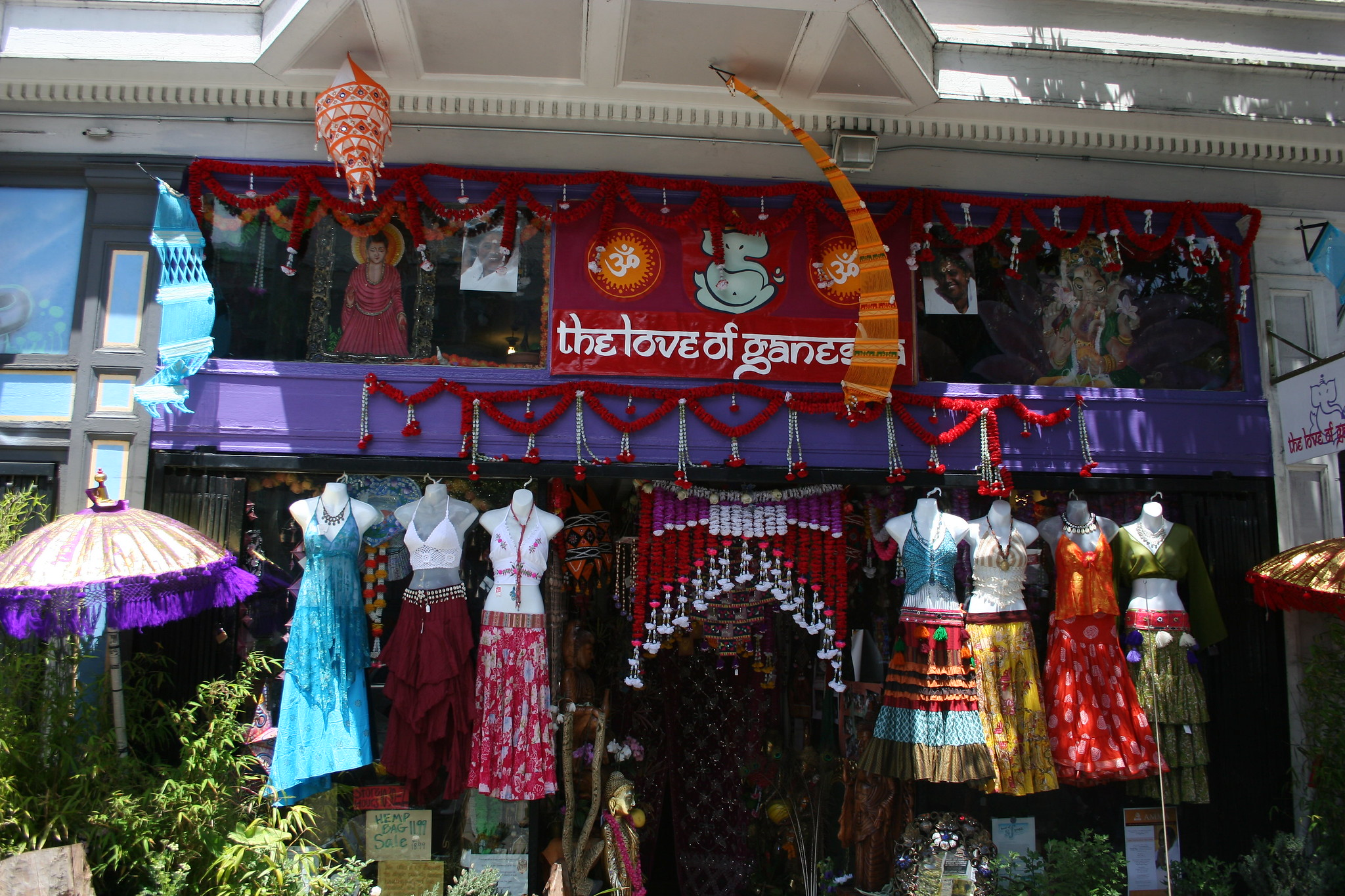 best shopping in San Francisco - The Love of Ganesha on Upper Haight Street in San Francisco - photo by Philippe Teuwen under CC BY-SA 2.0