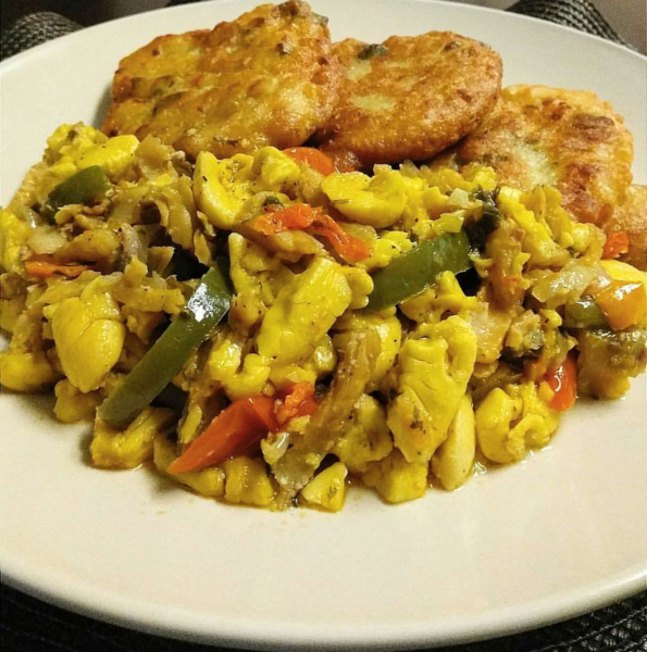 Ackee and Saltfish - photo by Aleat88 under CC-BY-SA-4.0