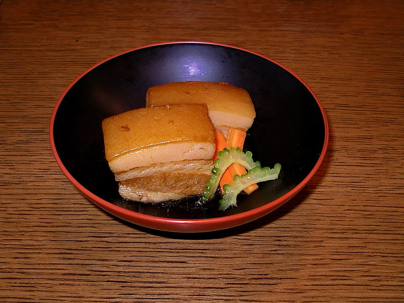 Rafute, Okinawan Stewed Pork Belly - photo by Blue Lotus from Okinawa under CC-BY-2.0
