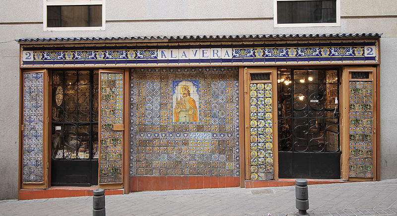 best shopping in Madrid - Façade of Antigua Casa Talavera in Madrid - photo by Luis García (Zaqarbal) under GFDL and CC-BY-SA-3.0-ES