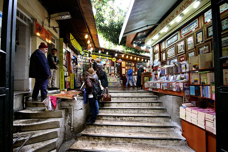 best shopping in Istanbul - Beyazit Book Bazaar - photo by User:Matthias Süßen under GFDL and CC-BY-3.0