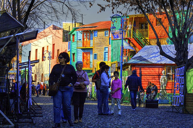 free things to do in Buenos Aires - Caminito in the La Boca neighborhood of Buenos Aires, Argentina - photo by Luis Argerich from Buenos Aires, Argentina under CC-BY-2.0