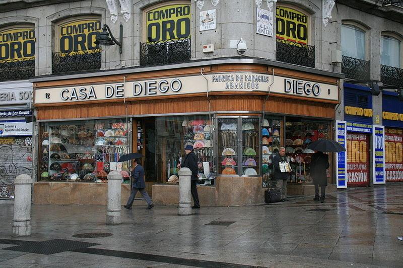 Casa de Diego along Puerta del Sol - photo by Tamorlan under CC-BY-SA-3.0