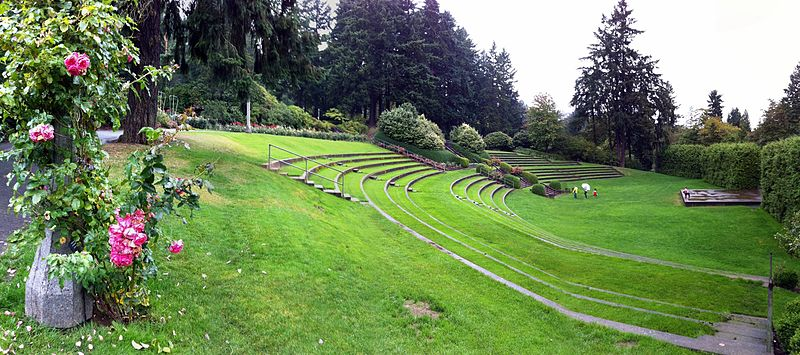 free things to do in Portland, Oregon - Amphitheater at the International Rose Test Garden in Portland, Oregon - photo by don under CC-BY-2.0