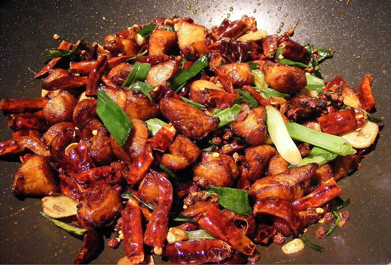 Spicy Szechuan Chicken Dish - photo by FotoosVanRobin from Netherlands under CC BY-SA 2.0