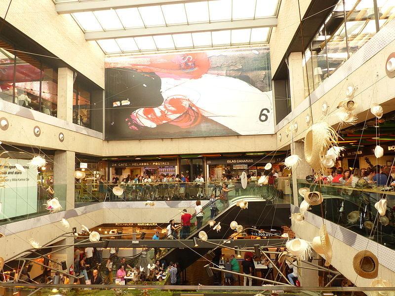 Interior patio of Mercado de San Antón - photo by Benjamín Núñez González under CC-BY-SA-4.0