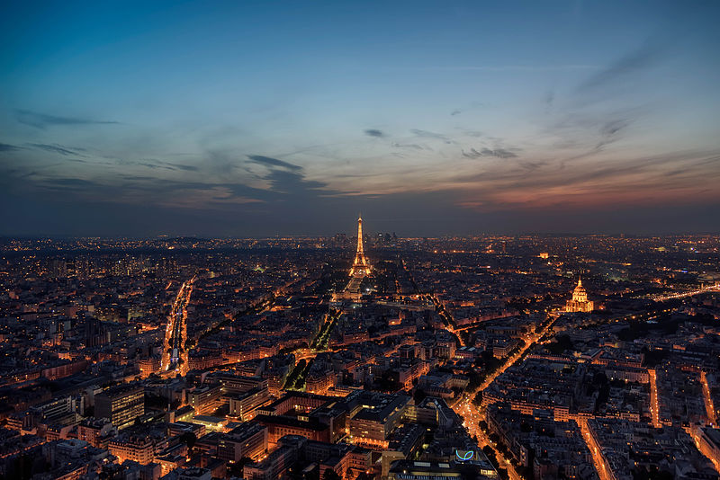 Paris as seen from the  Montparnasse Tower - photo by Joe deSousa under CC-Zero