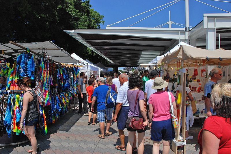 free things to do in Portland, Oregon - Some of the stalls at Portland Saturday Market - photo by Steve Morgan under CC-BY-SA-3.0