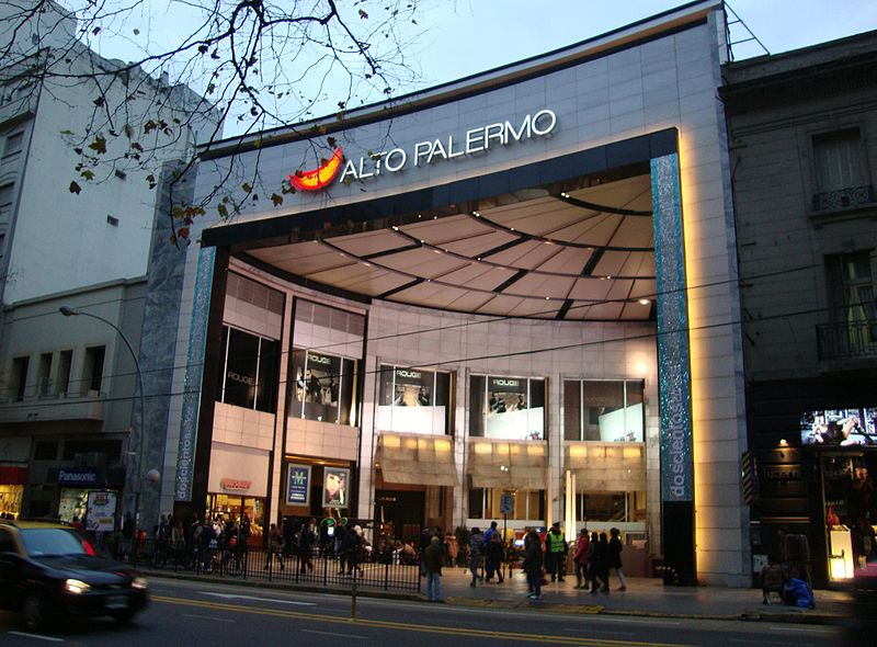 Alto Palermo shopping mall - photo by Elsapucai under PD-user, GFDL and CC-BY-3.0